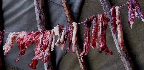 Reindeer meat in Mongolia